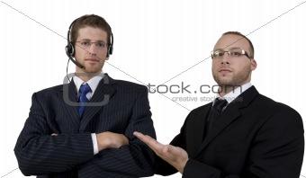 boss scolding his employee