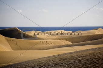 Sandtops formed by the wind