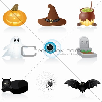 Icon set Halloween