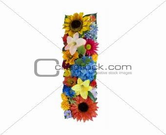 Flower Alphabet - I