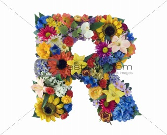 Flower Alphabet - R
