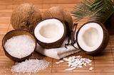 coconut and vanilla bath