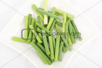 Green garlic stem