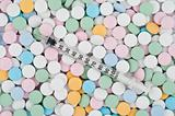 colourful pills and drugs