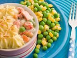 Individual Fish Pie with Peas and Sweetcorn