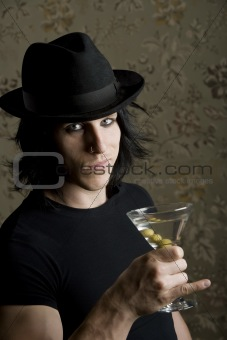 Young Man with a Martini