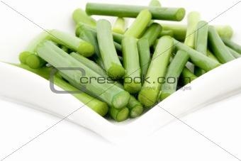 Green garlic stem