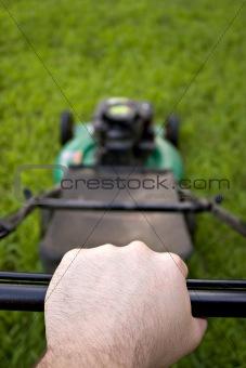 Pushing the Lawn Mower