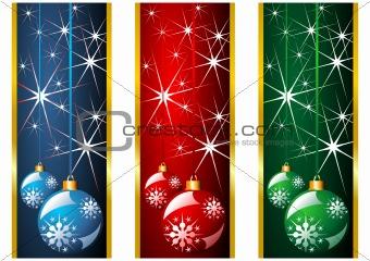 Christmas banners and balls
