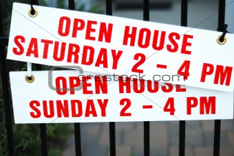 """Open house"" sign"