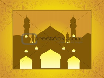abstract frame of mosques, illustration