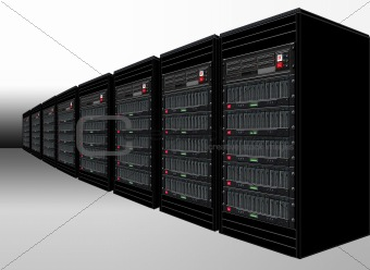 Black Computer Server Cabinets