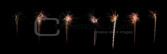 celebration firework panorama