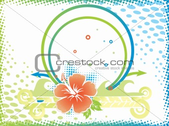 abstract background of hibiscus flower, wallpaper