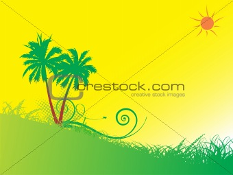 abstract summer background illustration