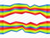 Rainbow disjointed wall stripes