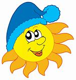 Sun in winter cap