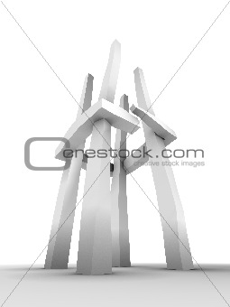 abstract tower sculpture