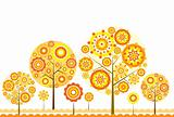 Tree floral background, vector