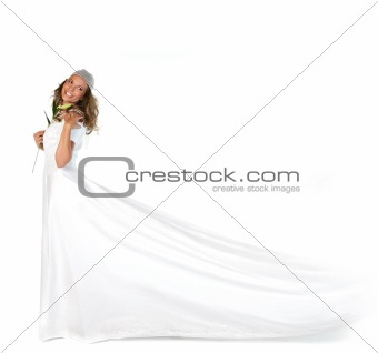 Beautiful Bridal Portrait in Studio