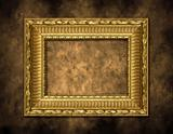 Golden Frame on Artistic Background