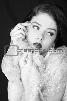 Stunning Monochrome Portrait of a Sensual Woman
