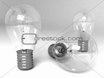 three dimensional light bulbs