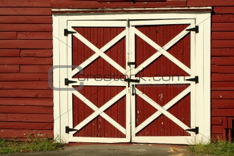 Old red bard doors