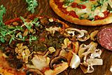 Mushroom Garlic Pizza