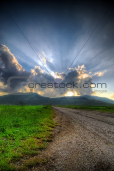 Blisfull sunset
