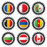 halftone flag button 2