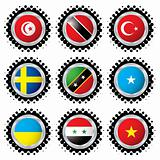 halftone flag button 4