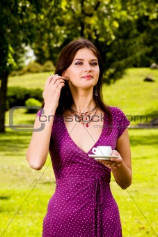 Beautiful young woman and coffee