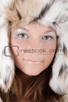 Woman in a winter hat