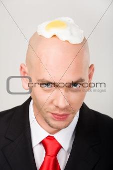 Omelet on head