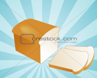 Sliced bread illustration