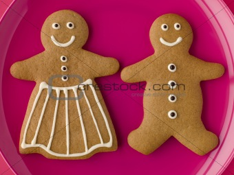 Gingerbread Man and Gingerbread Woman