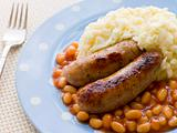 Sausage and Mash with Baked Beans