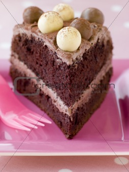 Slice of Chocolate Malteser Cake