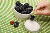 Delicious blackberry dessert