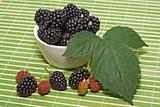 Blackberries on the table
