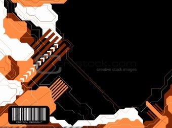 modern tech orange