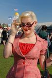 fifties style glamorous young blond