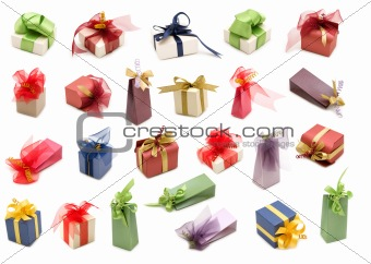 collection fancy gift boxes