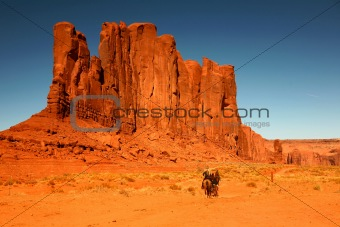 Riding Horses as Recreation in Monument Valley Arizona