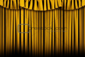 Beautiful Draped Golden Stage Theater