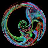 Colorful spiral design