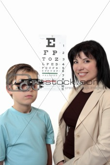 Optometstrist  eye examination