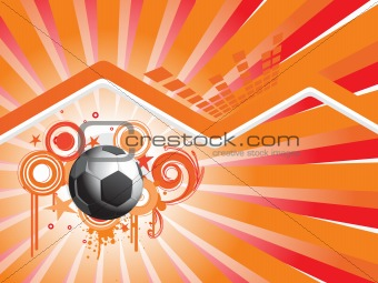 abstract background with football and grunge elements, illustration