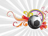 abstract background with football and vector elements, illustration